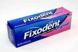 Fixodent denture adhesive cream, original, strong and long hold -