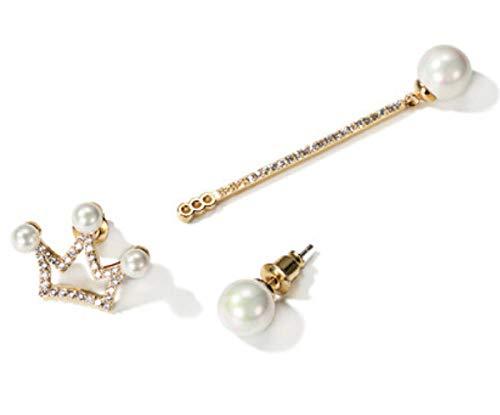 DAGE Orecchini asimmetrici orecchini femminili lunghi paragrafo orecchini moda orecchino orecchini imitazione perle anallergiche