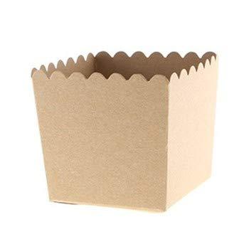 Cartissimi 6 Einfarbige Kraft Braune Snackboxen aus Pappe für Kekse, Pralinen und Geschenke