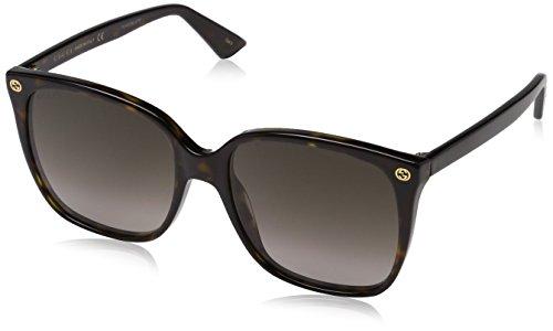 Gucci Damen GG0022S 003 Sonnenbrille, Braun (Avana/Brown), 57