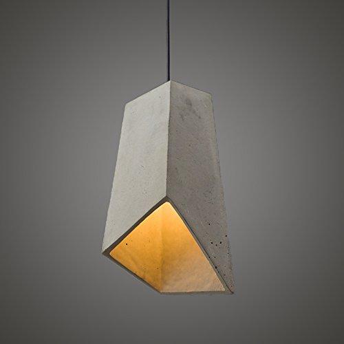 ZMH Lampadario a sospensione Vintage Retro lampadario Loft cemento Lampada a Sospensione da Soffitto, Attacco E27, Plafoniera in Metallo per camera da letto,cucina (Lampadine incluse )
