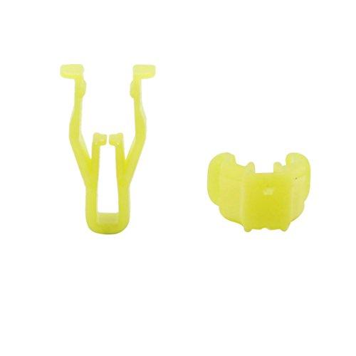 Gelb Kunststoff Nieten Auto Platte Kofferraum Clips Kotflügel Verschluss de ()