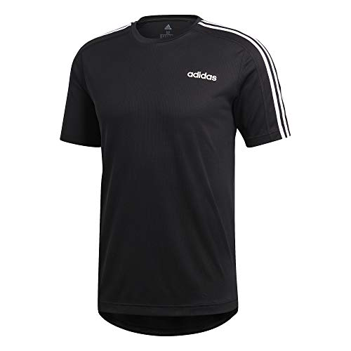 adidas Herren D2M Tee 3S T-Shirt, Black, S - Adidas Court Sport Kurz