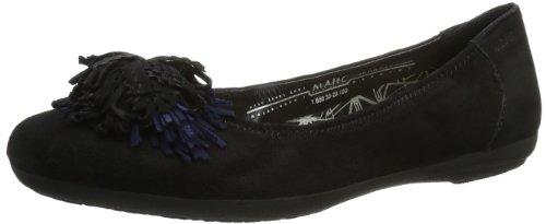 Marc Shoes  Janine, Ballerines pour femme Noir - Schwarz (black 100)