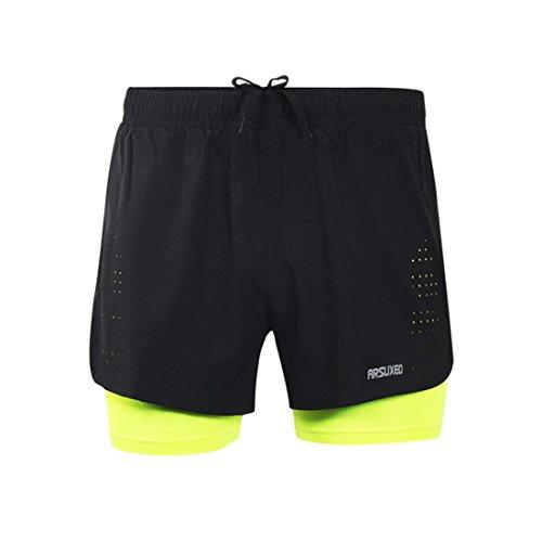 plit Shorts Laufhose Kurz grün EU M ()