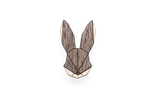 Holz-detail-kleid-schwarz (BeWooden | Brosche aus Holz | Verschiedene Motive | Einzigartiges Design | Hergestellt im Herzen Europas (Hare))