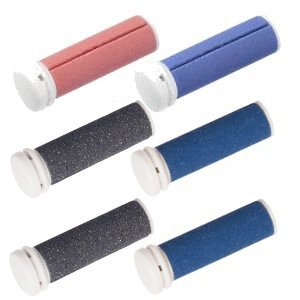 Micro Pedi Ersatzrollen MPREF Rollen 3 x 2er - 2 x grau, 3 x blau, 1 x rot fuer MP Lady, MP Curamed, MP Nano, etc,