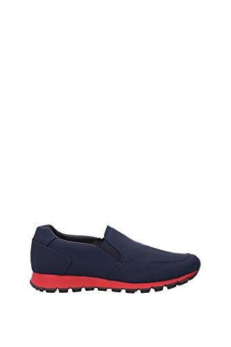 4D2805OLTREMARESCARL Prada Sneakers Homme Tissu Bleu Bleu