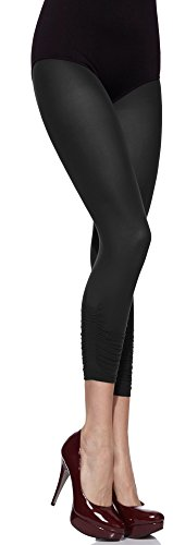 Merry Style Damen mikrofaser Capri Leggings MS-135 50 DEN (Schwarz, XS/S (32-38))