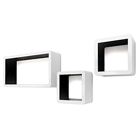 Songmics Wall Shelves Cube Floating Shelves with Retro Design Weight