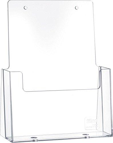 Helit H2352102 - Tischprospekthalter für DIN A5, hoch, glasklar