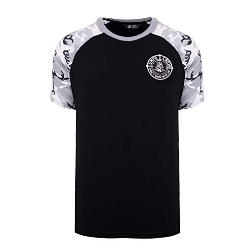 Unfair Athletics Herren T-Shirts Snowcamo schwarz M - Athletic Track-t-shirt
