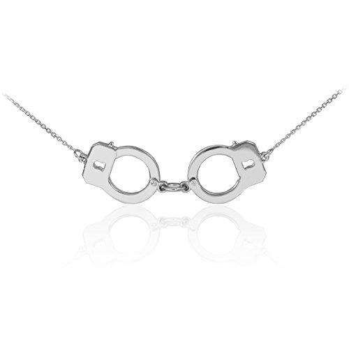 Kleine Schätze - 925 Sterling Silber Handschellen Halskette