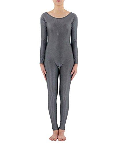 Ganzkörperanzug Anzug Suit Kostüm Ganzkoerper Anzug Fasching Karneval Kostuem Grau (Lycra Anzug)