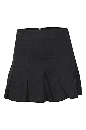 Tom Tailor Damen Rock structured skater skirt 40cm Schwarz (2999) (XL, Schwarz)