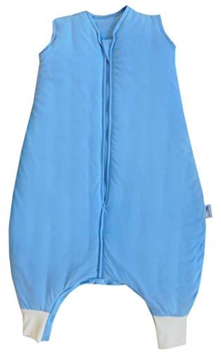 Schlummersack Schlafsack mit Füssen leicht gefüttert für den Sommer in 1.0 Tog - Blau - 6-12 Monate/70 cm mit Druckknöpfen an den Beinen