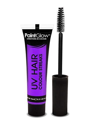 PaintGlow - Neon UV Hair Streaks - Strähnen Color Haarfarbe - Lila (Kleine Neon-haare Bürsten)