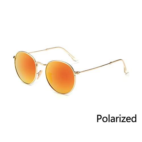 Sport-Sonnenbrillen, Vintage Sonnenbrillen, New Vintage Metal Round Sunglasses Men Women Steampunk Retro Sun Glasses Fashion Shades Male Female Eyewear UV400 P08 Gold Red
