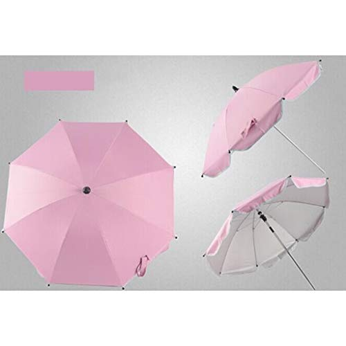 a0dfb9f9ae01 WZJ-UMBRELLA Can Be Bent Freely Baby Stroller Umbrella Children UV  Protection Parasol (Color : Pink)