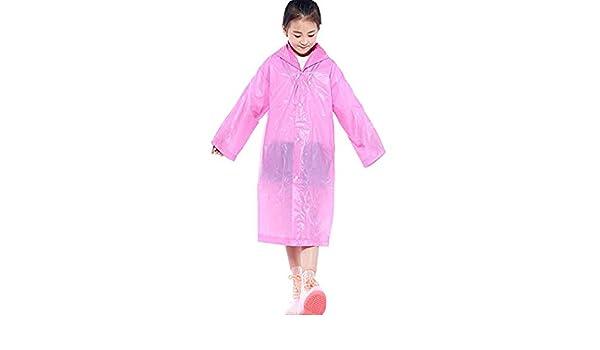 Children Kids Rain Poncho Emergency Portable PVC Lightweight Girls Boys Outdoor