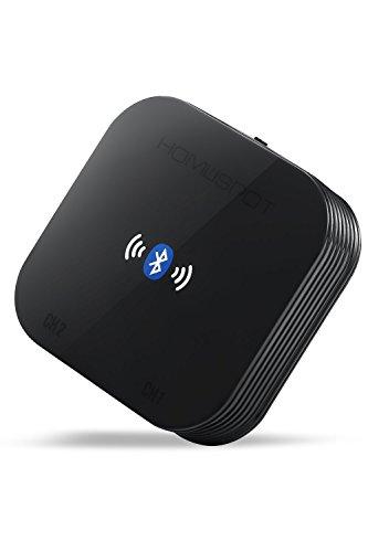 HomeSpot Bluetooth HIFI Audio Adapter mit MultiLink Funktion für simultane, gleichzeitige Audio Übertragung von zwei Bluetooth Sende Geräten (MultiLink Bluetooth Empfänger Kein Sender)