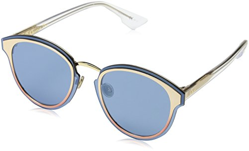 Christian dior diornightfall 2a 35j, occhiali da sole donna, rosa (pink/blue grey speckled ar), 65