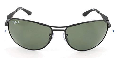 Ray-Ban Unisex Rechteckig Sonnenbrille, Gr. 59 mm, Black (006/9A 006/9A), 59 mm