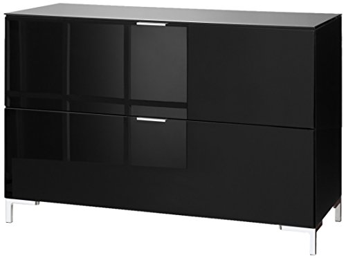 CS Schmalmöbel 45.102.507/038 TV-Board Cleo Typ 13, 109 x 50 x 73 cm, schwarz / schwarzglas