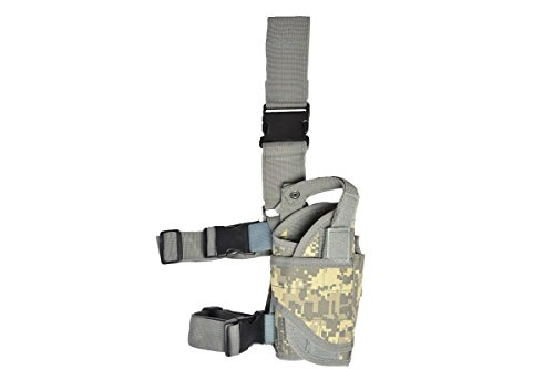 Sector 71 Pistolenbeinholster, rechtes Bein, Gürtel und Beinbefestigung (Digi Camo) EINWEG