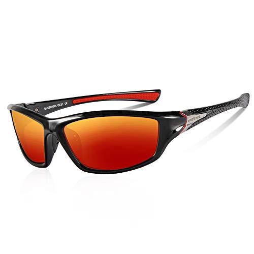 cf74d5a55d Queshark Gafas de Sol Deportivas Polarizadas Para Hombre Perfectas Para  Esquiar Golf Correr Ciclismo TR990 Súper