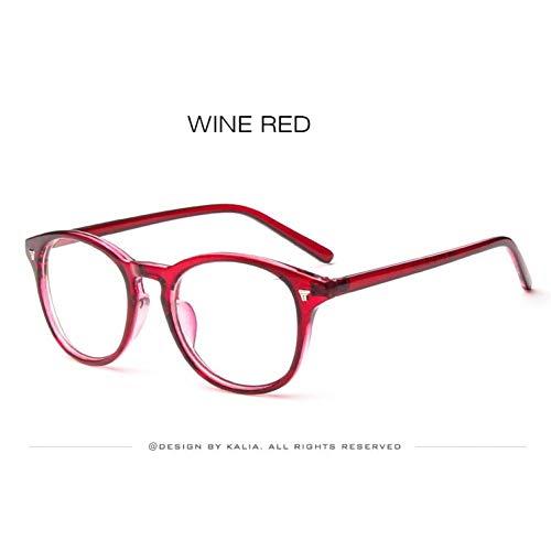 Kjwsbb Retro Klassische Frauen Runde Brillen Rahmen Männer Nagel Dekoration Optische Brille Lesebrille