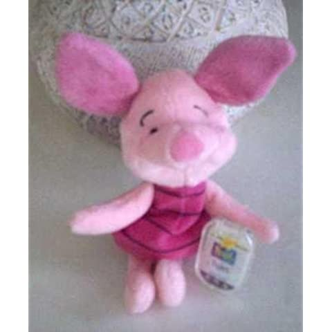 Disney Piglet Bean Bag Plush By Star Bean - Pooh Collection - 7 Inches by Disney