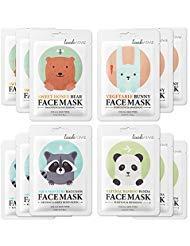 Look at me - Máscaras faciales prémium con sobre con diseño de animales bonitos, para purificar, revitalizar, suavizar e hidratar el rostro,un producto coreano para el cuidado de la piel impresionante