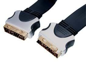 HQ HQSS1022/1.5 Câble Péritel Plat Haute Qualité 1,5 m