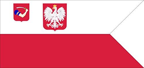Preisvergleich Produktbild Flagge PL Ensign Jacht Klub MW Kotwica | Querformat Fahne | 0.06qm für Diplomat-Flags Autofahnen