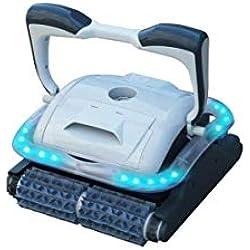Bestway - Robot électrique de piscine Raptor, 2 moteurs pour fond plat, parois et ligne d'eau, éclairage LED multicolore
