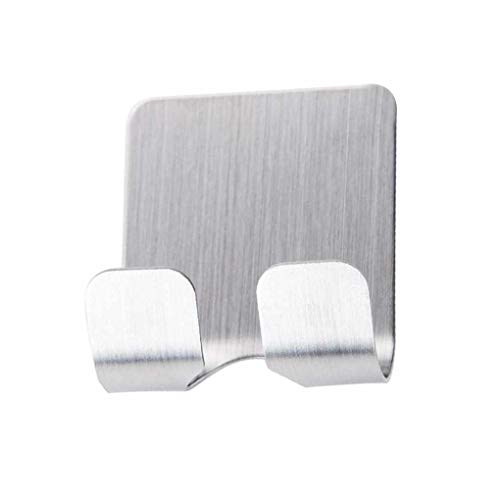 Kakiyi Self Adhesive Edelstahl-Netzstecker-Halter Rasierer Zahnbürste Washroom Wand Cup Haken Veranstalter - Wand Veranstalter
