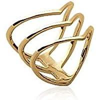 Anello a 3 anelli frecce oro 18 carati, collezione ZANZYBAR, modello: Rosso