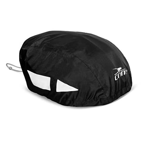 CrazyGadget® High Visibility Hi Vis Reflective Waterproof Bike Bicycle Cycle Helmet Cover - Universal One Size Fits All (Black)