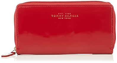 Tommy Hilfiger FELICITY L ZIP AROUND GIFT BOX BW56922079, Damen Geldbörsen, Rot (CHILLI PEPPER 615), 16x11x4 cm (B x H x T)