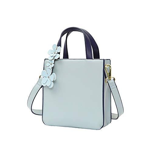 Applique Messenger Bag (RKY Umhängetasche - PU/Polyester, Mori Mini Mädchen kleine Tasche Mode Wilde Fee eine Schulter Applique blau kleine quadratische Tasche - 18X7X18.5cm /-/)