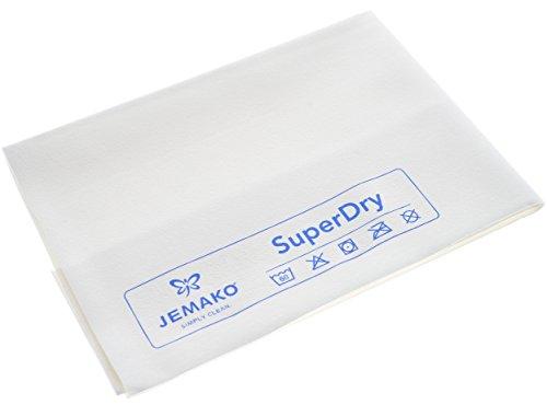 Jemako Abledertuch SuperDry weiß/blau (40 x 45 cm)