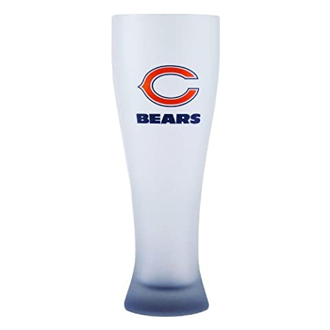 NFL Chicago Bears Frosted Pilsner Glass with Bottom Spray, 23-ounce