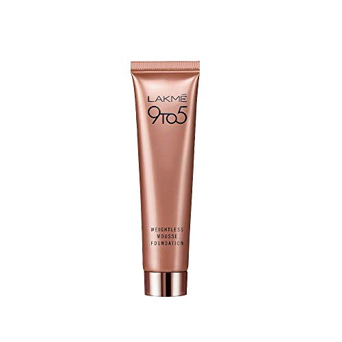 Lakme 9 to 5 Weightless Mousse Foundation, Beige Caramel, 25g
