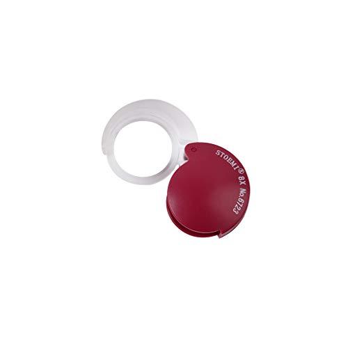 LYYRB Ultra-Mini-Taschenuhr, die optische Objektivlinse 8X faltet Lupe