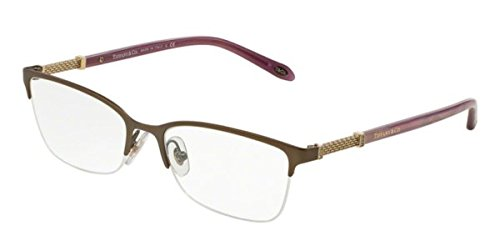 Tiffany & Co. Brillen Für Frau 1111B 6081, Matte Brown Gestell aus Metall und Kunststoff