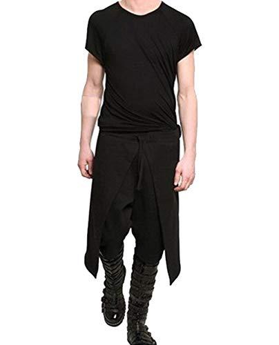 Joyplay Pantalones Goticos De Hombre Estilo Punk Negro