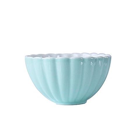 LGK&FA Modèle Coquille Porcelaine Saladier Bol De Soupe De Fruits Petit Bol Bol En Céramique Verte W-17