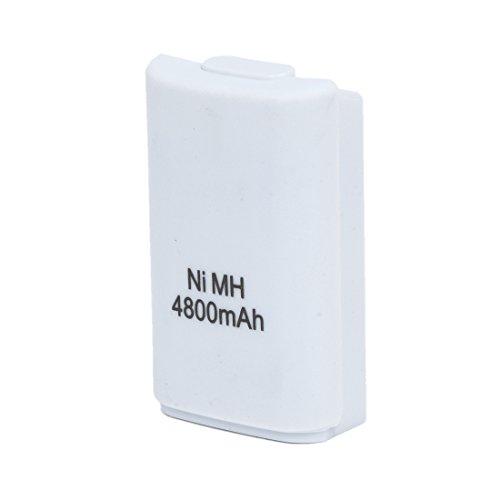 SODIAL(R) 4800mAh rechargeable Chargeur batterie Pour Xbox 360 manette sans fil Blanc