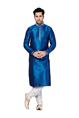 Mens Kurta Pajama Wedding Brocade India Party Wear Set of 2. (Brocade Kurta)